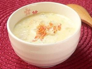 白菜と桜えびのクリームスープ