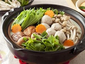 鶏つみれのヘルシー豆乳鍋