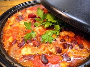 豚肉と豆の煮込み鍋