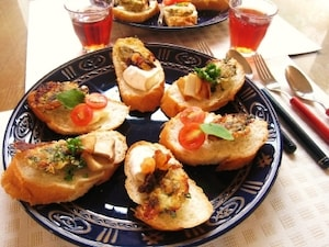 カナッペ風 牡蠣のパン粉焼き