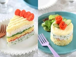 お寿司でケーキ