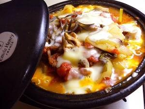 牛肉とじゃがいものチーズ鍋
