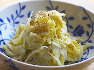 新玉葱のスイートポテトサラダ