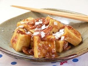 高野豆腐とツナの照り焼き