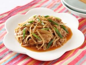 豚肉ともやしの中華風ソテー
