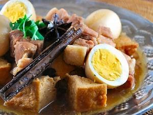 タイ風 豚玉子と厚揚げの煮物