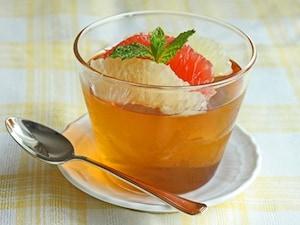 紅茶のひんやりゼリー