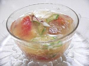 トマトの味噌スープ