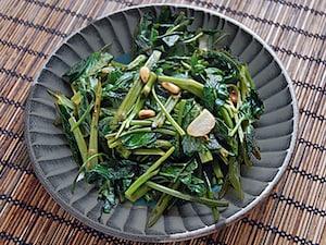 空芯菜の青菜炒め