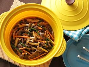 肉と野菜のコチュジャン蒸し