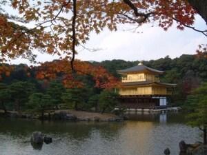 黄金に光り輝く金閣寺