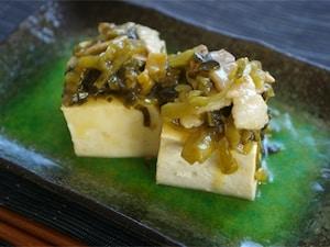 豚と高菜のあんかけ豆腐
