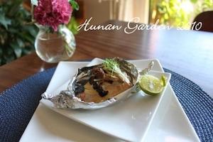 秋鮭とキノコの味噌マヨ焼き