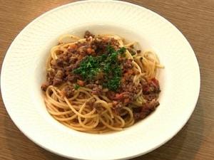 合いびき肉で作るレストラン風ボロネーゼ