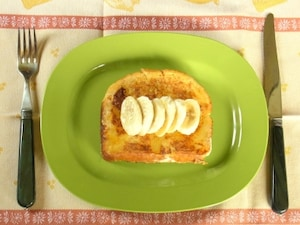 ホワイトチョコバナナ食パン