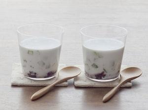 キウイのココナッツミルク汁粉
