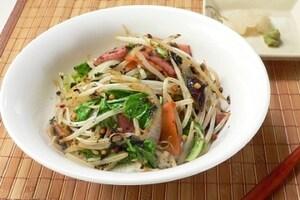 お茶漬けの素で野菜炒め丼