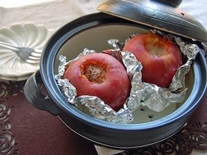 土鍋で焼きりんご