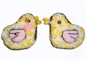 小鳥のデコ巻き寿司