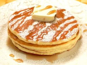 おかゆを使って、ふわとろもっちりパンケーキ