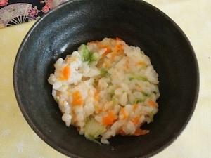 「野菜のおかゆ」10分で出来るレタスのおかゆ