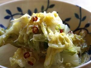 白菜のアクアパッツァ