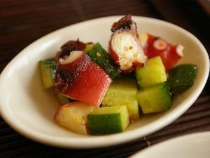 タコときゅうりのピリ辛酢の物