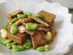 厚揚げと季節野菜の生姜焼き
