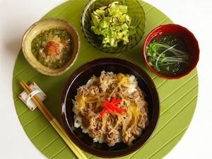 ボリューム牛丼定食