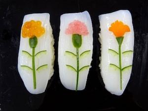 母の日デコにぎり寿司