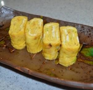 桜えびと長ねぎの玉子焼き