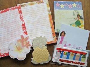 ハワイ柄の付箋紙&メモパット