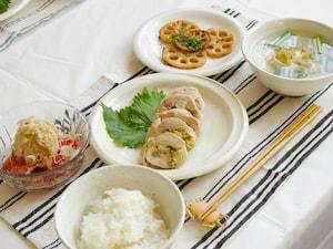 マスタードチキンロール定食