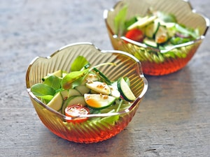 簡単・ズッキーニの和風サラダ
