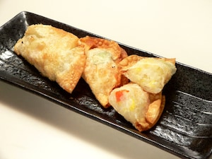 ポテトサラダの揚げ餃子