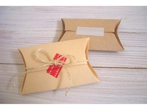 厚紙で簡単ピロー型ボックス