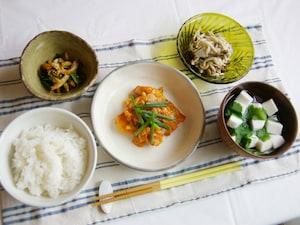鮭のキムチーズ焼き定食