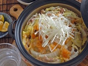 白菜と塩麹豚肉の重ね蒸し鍋