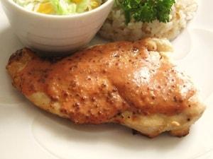 鶏むね肉のマスタード焼き