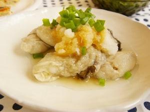ゆで牡蠣のおろしポン酢