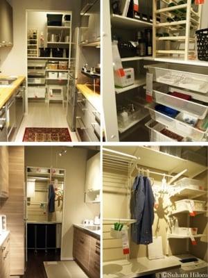 棚は収納ケースやバスケットを使って種類別に整理