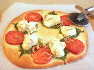 手作り豆腐入りピザ