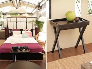 トレイテーブルでホテルっぽい寝室に