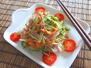 きゅうりの棒々鶏風サラダ