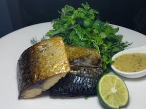 鯖のハーブオイル煮 ハニーマスタードソース添え