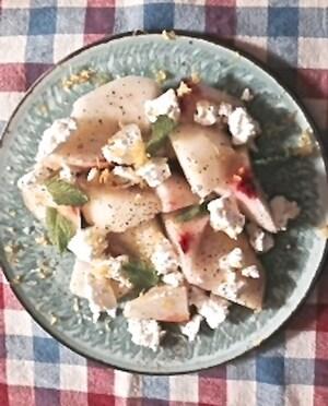 チーズ好き必見! 桃とシェーブルのマリアージュ