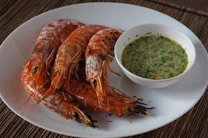 タイ風えびのパクチーソース