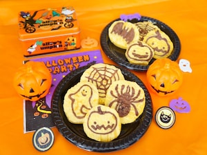 かぼちゃのパンケーキアート