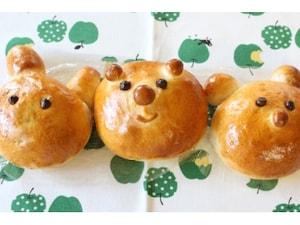 りんご入り動物パン