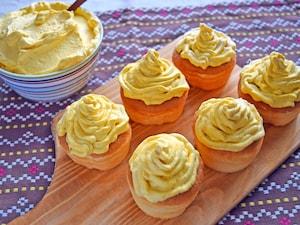 かぼちゃクリームのカップケーキ